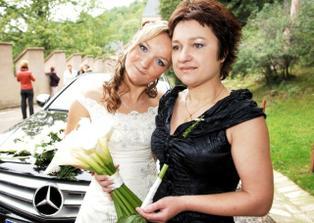 Nevěsta s maminkou....
