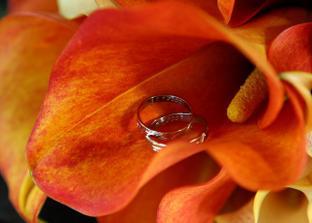 V svadobnej kytičke sa ukývajú naše svadobné prstienky, boli z bieleho zlata a vo vnútri máme vygravírovaný dátum svadby :-).