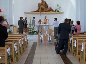 Tak a tu sme to manželstvo spečatili podpisom a bozk, ten bol ž pred kostolom, v tom strese nás nenapadlo si dať pusu a ani nás k tomu v kostole pán dekan nevyzval, tak sme to dobehli pred kostolíkom :-)