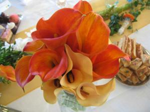 svadobná kytička - kaly boli nádherné