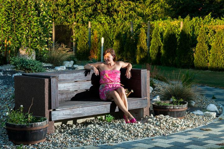 Fotenie na rande - u nas doma na zahrade