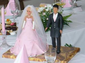 Nevěsta a ženich - jako živí !!