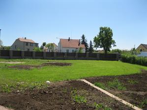 Zahrada bude potřebovat ještě hodně úprav. Prý až na podzim :-( Těším se na ovocné stromky! :-)