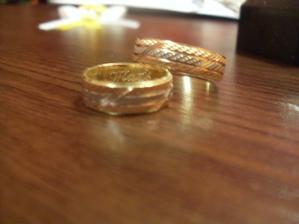 naše obrúčky - trojkombinácia - biele, ružové a žlté zlato