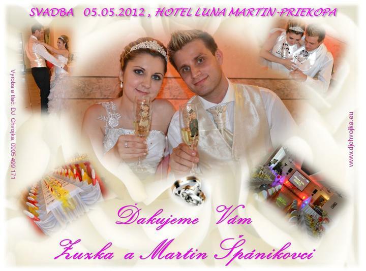 Zuzka {{_AND_}}Maťko - poďakovacia kartička, ktorú dostali hostia našej svadby :)