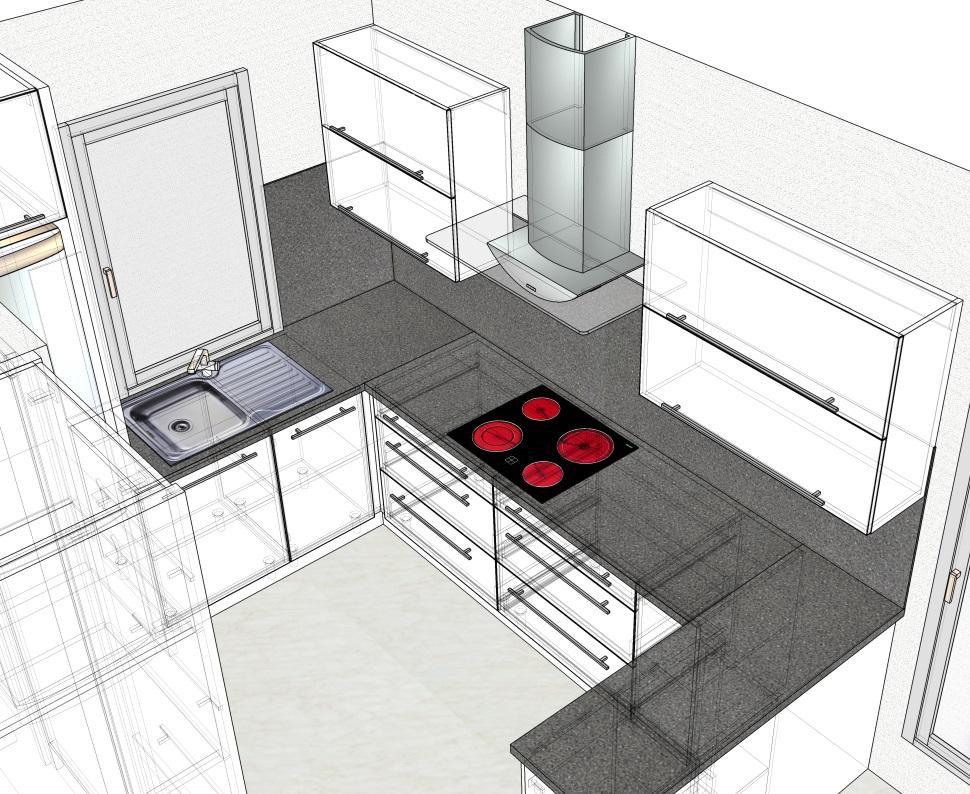 Kuchyn druhy navrh + prvni navrh jiny dodavatel - Obrázek č. 1