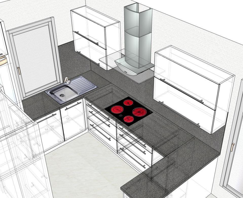 Kuchyn druhy navrh + prvni navrh jiny dodavatel - Obrázek č. 2