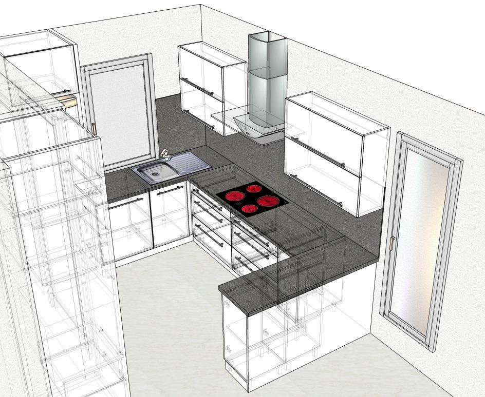 Kuchyn druhy navrh + prvni navrh jiny dodavatel - Obrázek č. 3