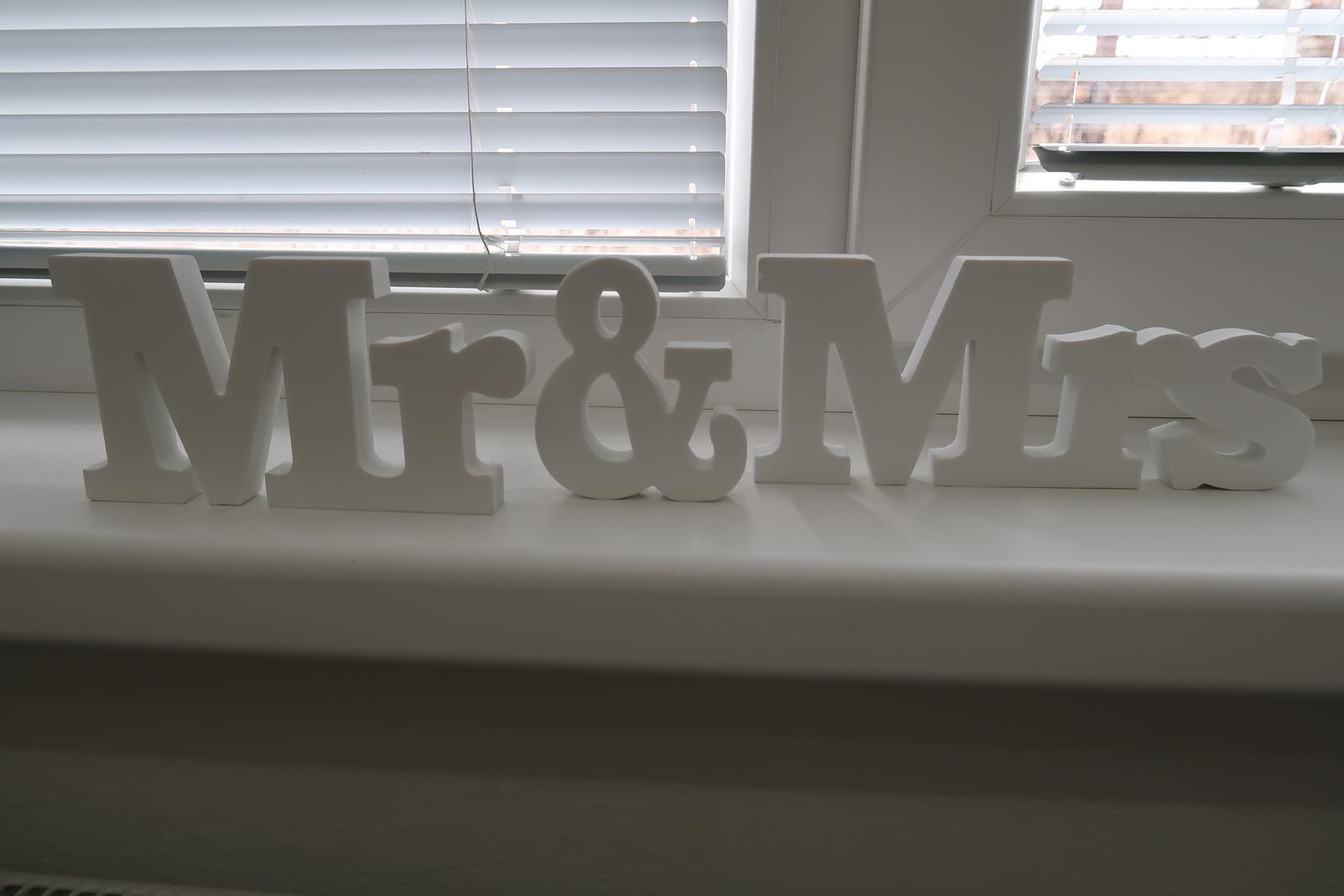Nápis MR & MRS - Obrázok č. 1
