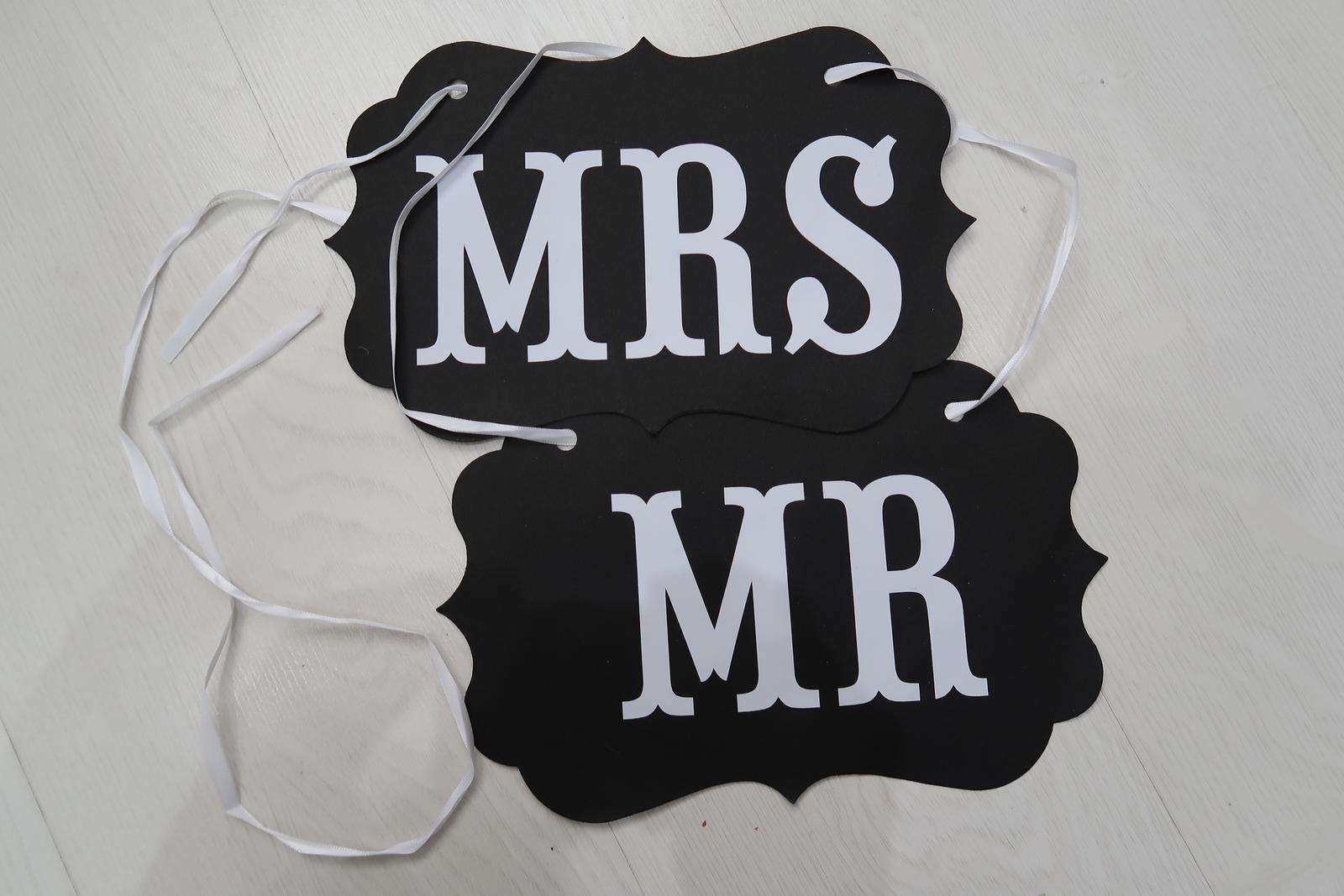 Nápis Mr Mrs - Obrázok č. 1