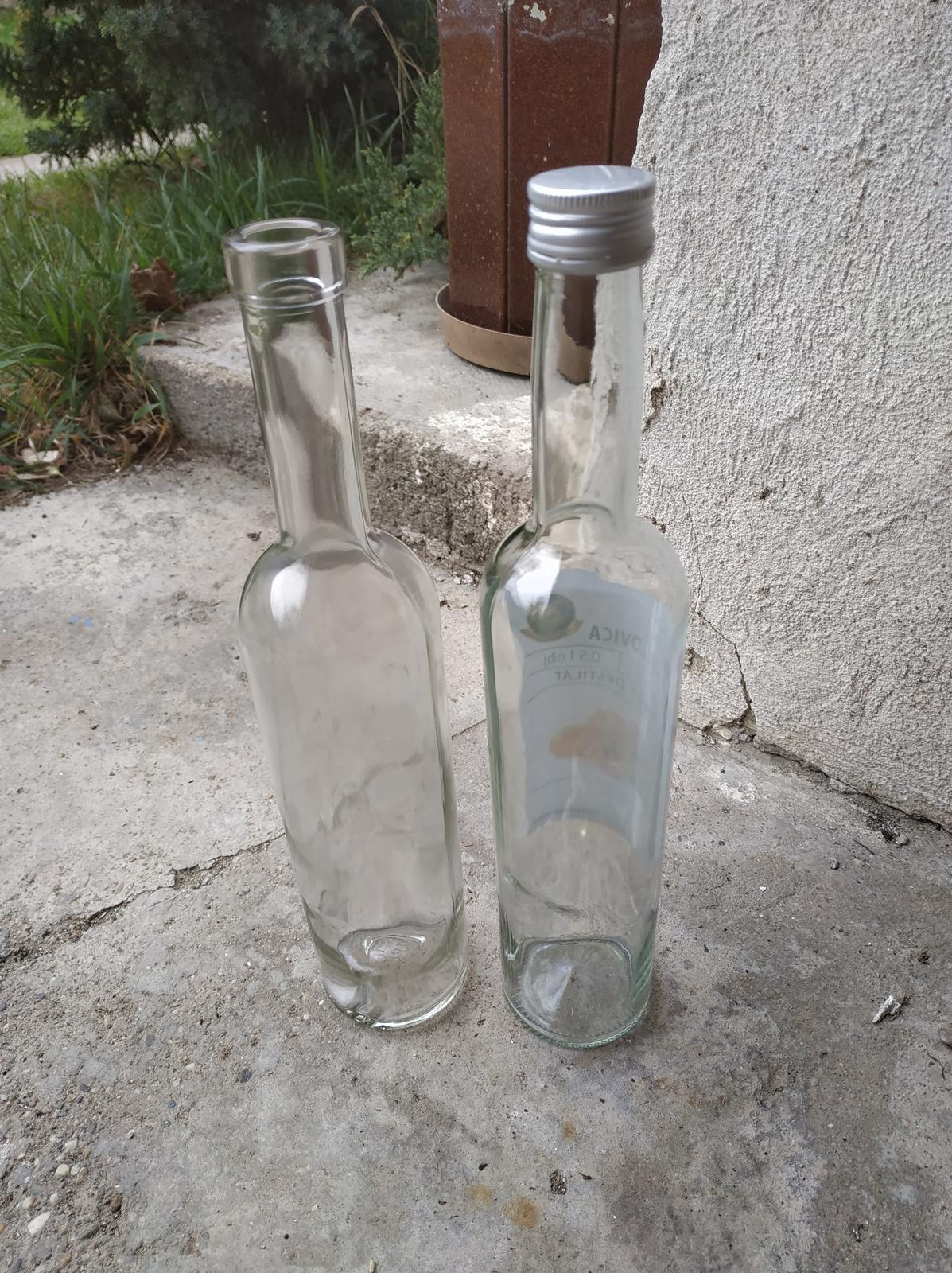 Fľaše na alkohol - 0,75l a 0,5l - Obrázok č. 2