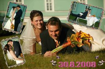 koláž se svatby