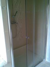 sprchový kout po dokončení