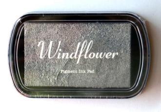 Razítkovací polštářek Windflower stříbrná - Obrázek č. 1