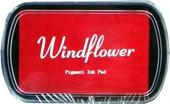 Razítkovací polštářek Windflower červená,