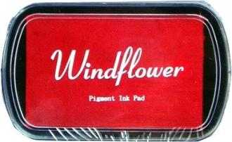 Razítkovací polštářek Windflower červená - Obrázek č. 1