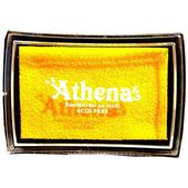 Razítkovací polštářek na textil žlutá,