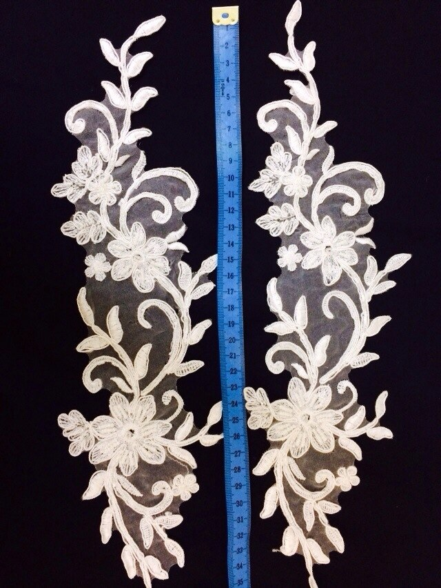 3 D Látky, aplikácie na svadobné šaty prípadne na iné dozdobenie - Obrázok č. 11