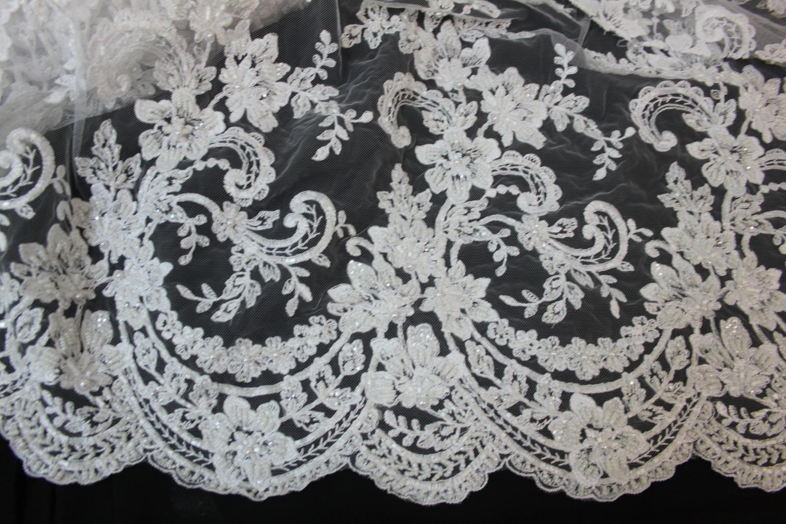 3 D Látky, aplikácie na svadobné šaty prípadne na iné dozdobenie - Obrázok č. 14