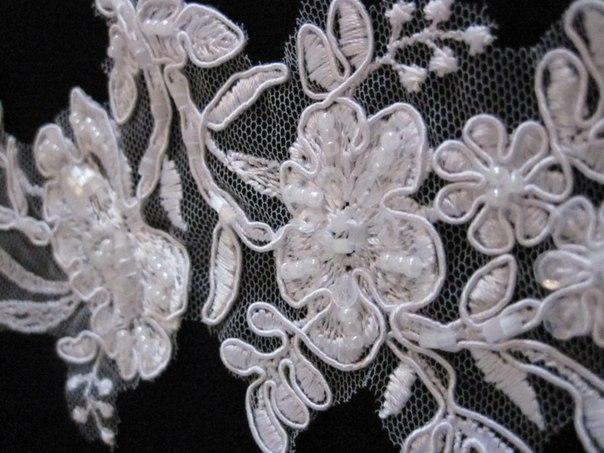 3 D Látky, aplikácie na svadobné šaty prípadne na iné dozdobenie - Obrázok č. 17