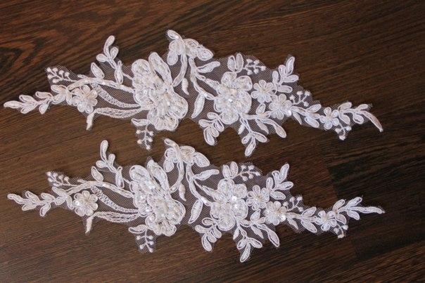 3 D Látky, aplikácie na svadobné šaty prípadne na iné dozdobenie - Obrázok č. 19