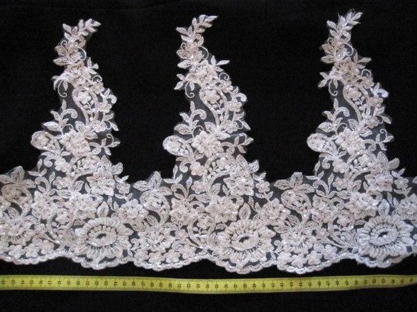 3 D Látky, aplikácie na svadobné šaty prípadne na iné dozdobenie - Obrázok č. 21