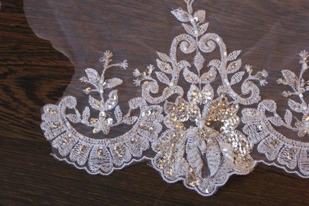 3 D Látky, aplikácie na svadobné šaty prípadne na iné dozdobenie - Obrázok č. 22
