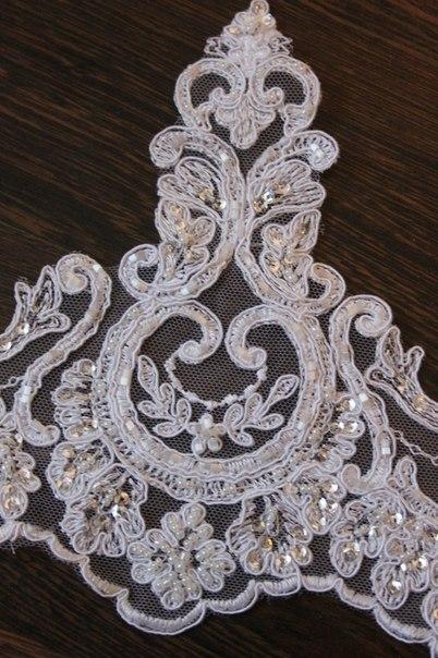 3 D Látky, aplikácie na svadobné šaty prípadne na iné dozdobenie - Obrázok č. 23