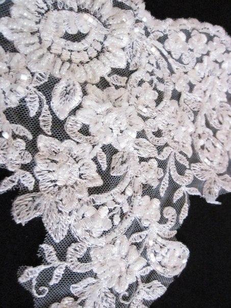 3 D Látky, aplikácie na svadobné šaty prípadne na iné dozdobenie - Obrázok č. 25