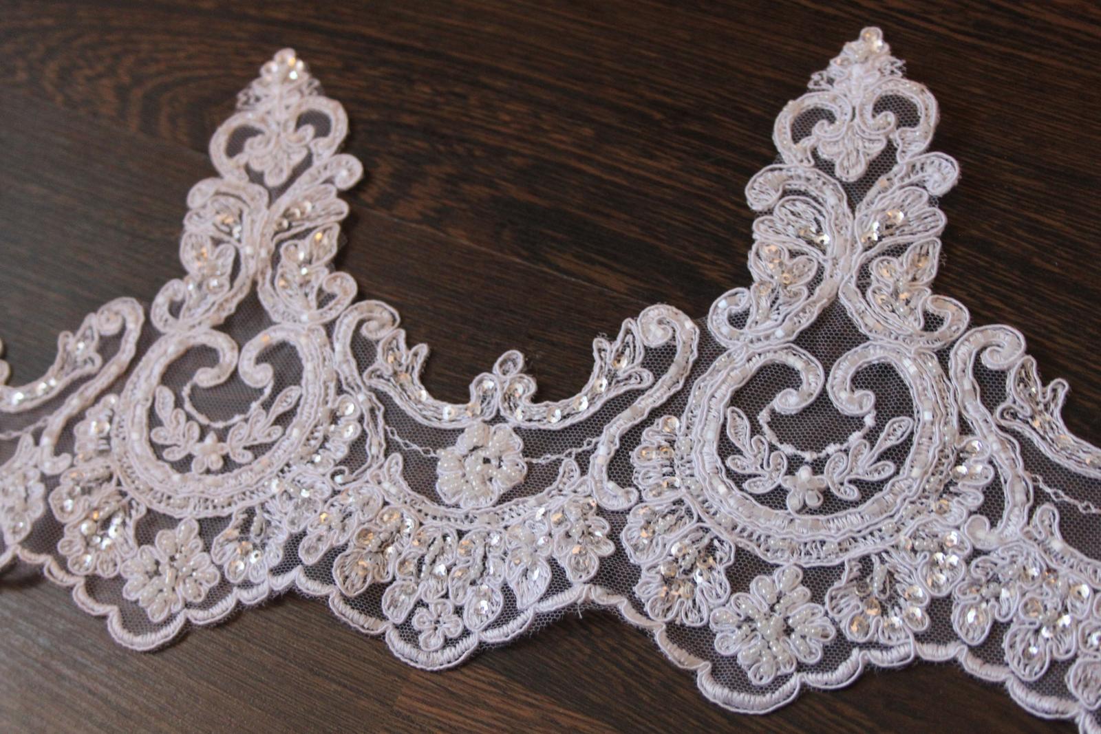 3 D Látky, aplikácie na svadobné šaty prípadne na iné dozdobenie - Obrázok č. 30