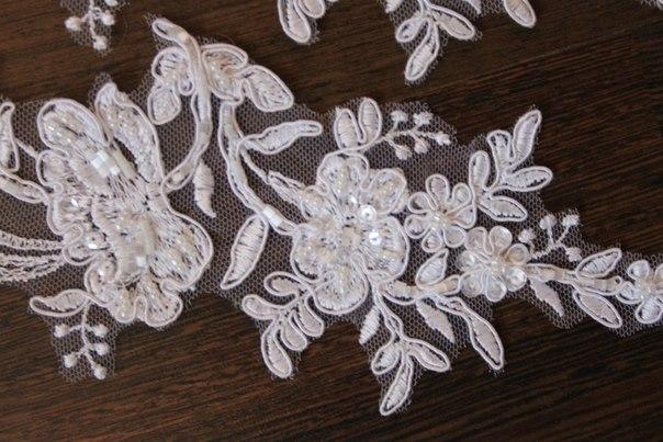 3 D Látky, aplikácie na svadobné šaty prípadne na iné dozdobenie - Obrázok č. 39
