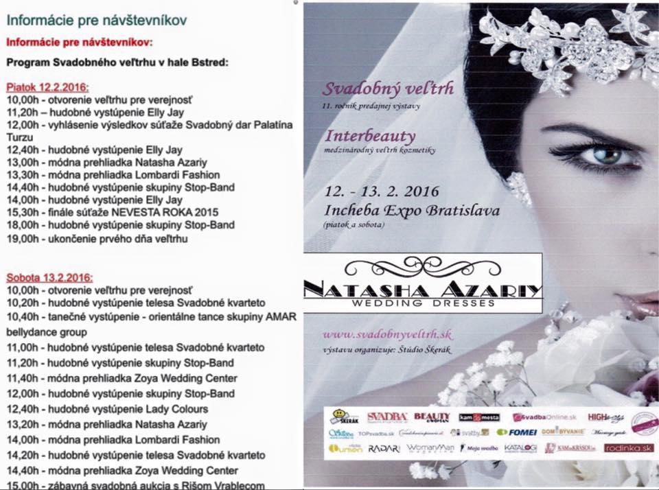 Všetkých Vás srdečne pozývame na Svadobný veľtrh, ktorý sa uskutoční v Inchebe Expo Bratislava v dňoch 12.-13.02.2016. Tešíme sa na Vás. - Obrázok č. 1