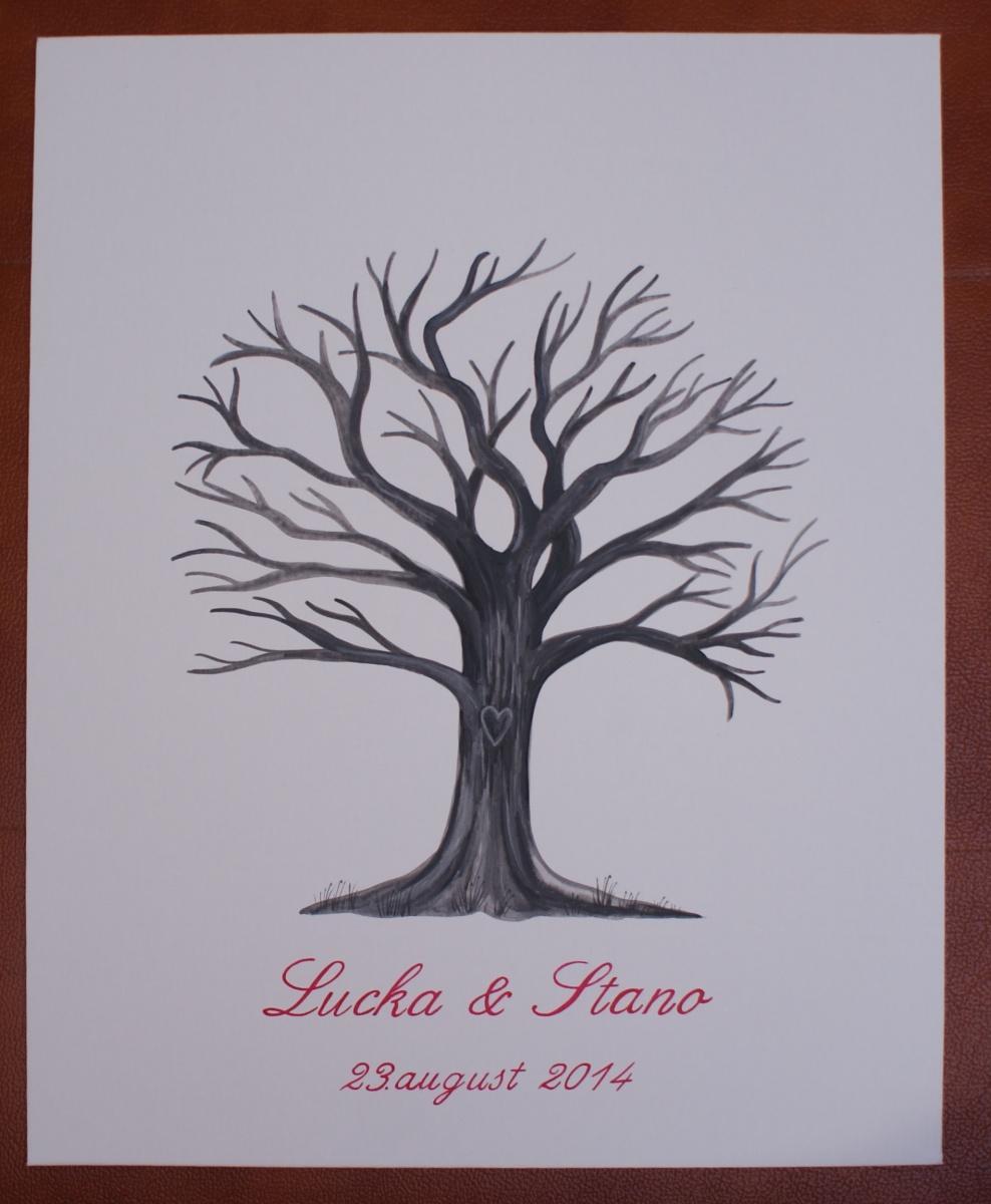 L+S - náš svadobný strom