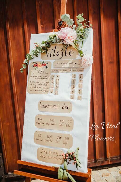 Svatba La Vital Flowers Martin a Zuzka Fara Dubenec - Obrázek č. 12