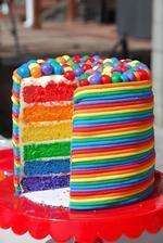 Náplň dortu bych chtěla barevnou