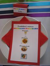 Malé děti měly menu s obrázkama :-)