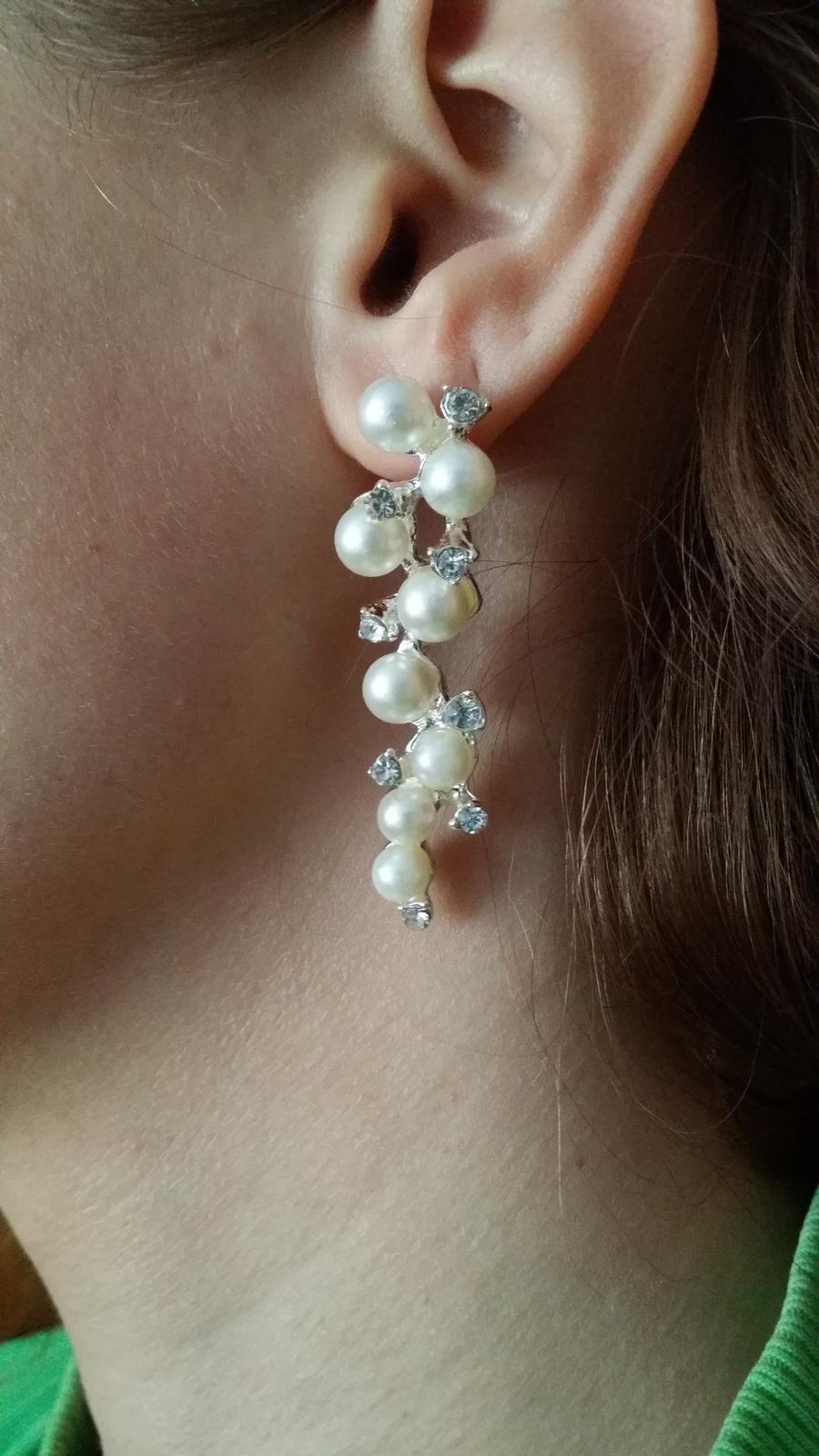 Perličkové svadobné náušnice - Obrázok č. 1