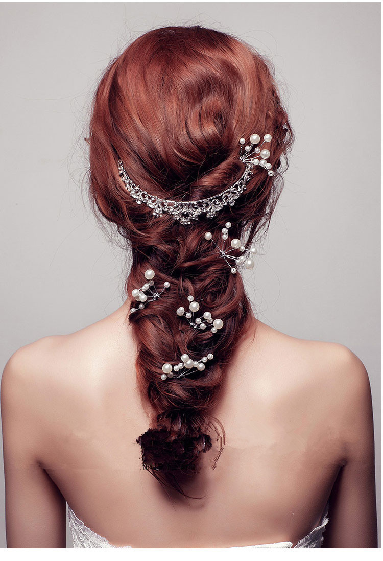 Vlasenky s perlickami biele - Obrázok č. 1