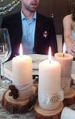 Sviečky ručně zdobené,