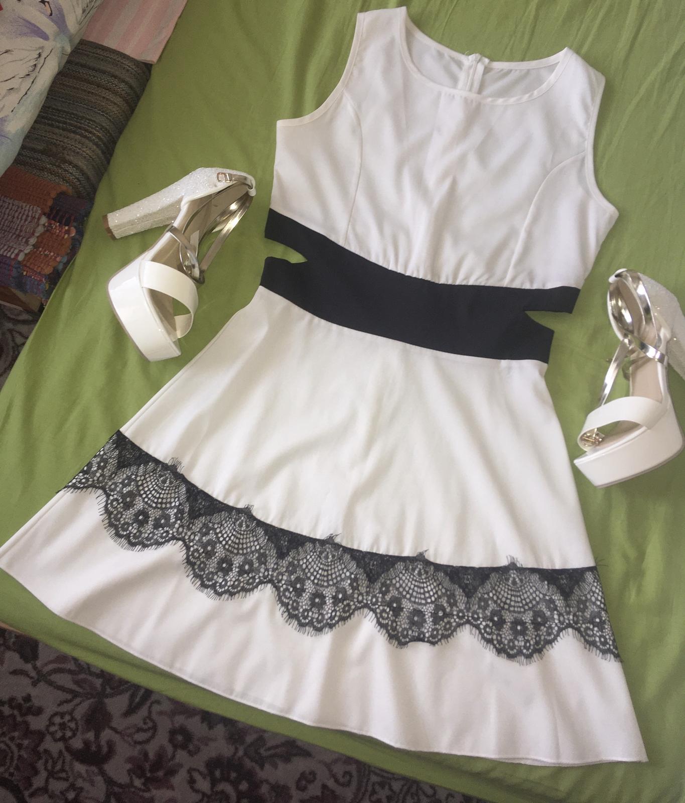 Krátke biele šaty, popolnočné,spoločenské,letné - Obrázok č. 1