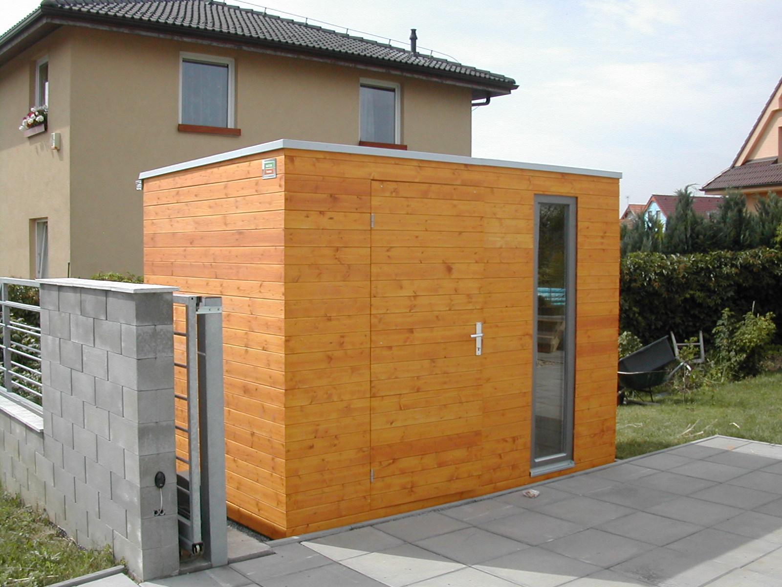 Moderní zahradní domky - Domek na nářadí 2,5x1,5 m - Praha