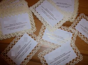 60 kusů svatebního oznámení.