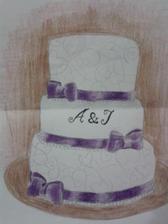 Nákres našeho dortu. Už domluven.