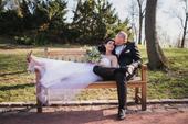 Unikátní svatební šaty 2v1 krátké i dlouhé, 38