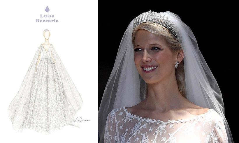 Královská svatba - Lady Gabriella Windsor a Thomas Kingston - Svatební šaty vytvořila italská návrhářka Luisa Beccaria.