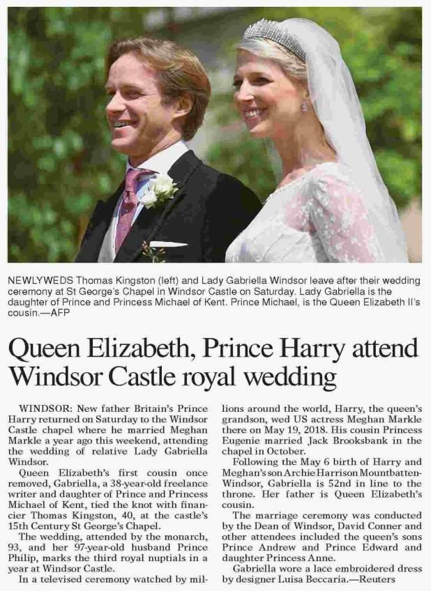 Královská svatba - Lady Gabriella Windsor a Thomas Kingston - Obrázek č. 26