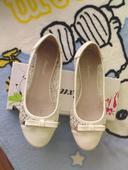 bílé krajkové balerýnky, 37