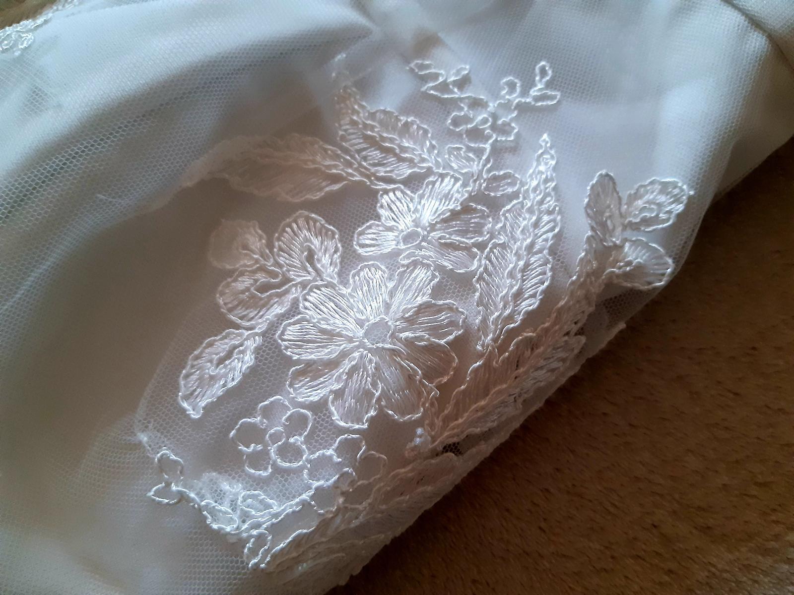 Jednoduché biele šaty M - Obrázok č. 3