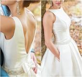 Elegantné svadobné šaty s vreckami, 36