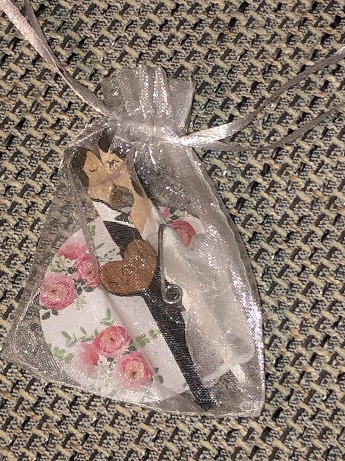 20ks - svadobné štipčeky / magnetky - Obrázok č. 4
